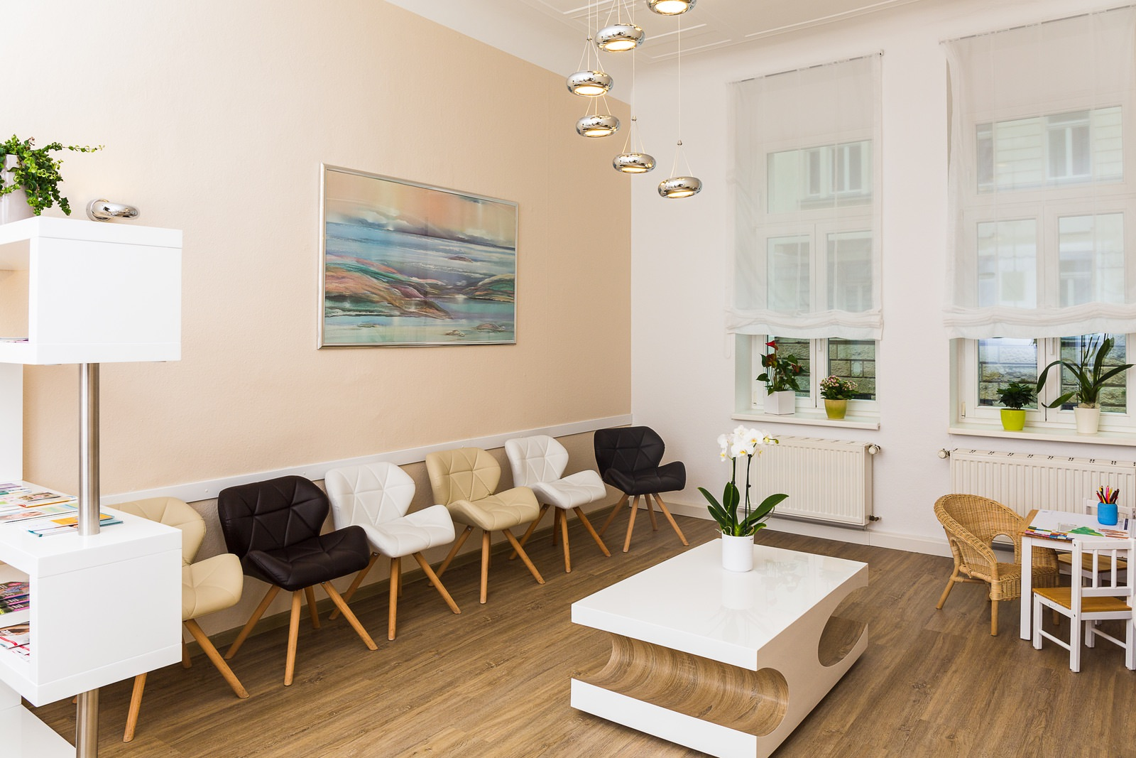 Wartebereich der Leipziger Frauenarztpraxis in der Steinstraße 19